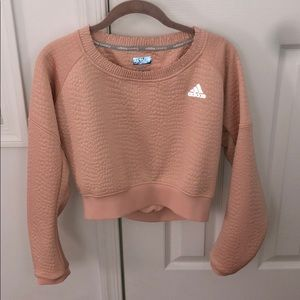 Adidas Reflective Running Crop sweater NWOT